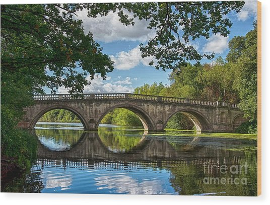 Stone Bridge Over The River 590  Wood Print