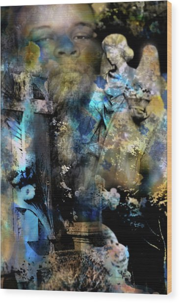Stone Crosses And Death Angels - Michael Brown Wood Print
