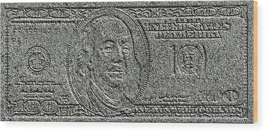 Stone Dollar Wood Print