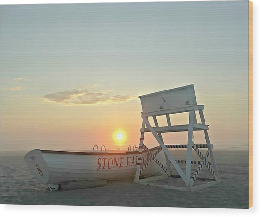 Stone Harbor Sunrise Wood Print