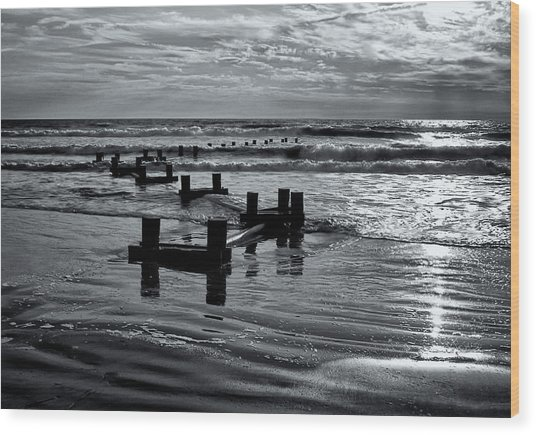 Stone Harbor Sunrise Wood Print