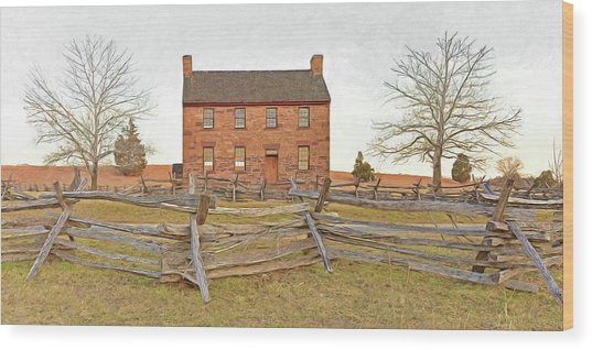 Stone House / Manassas National Battlefield / Winter Morning Wood Print