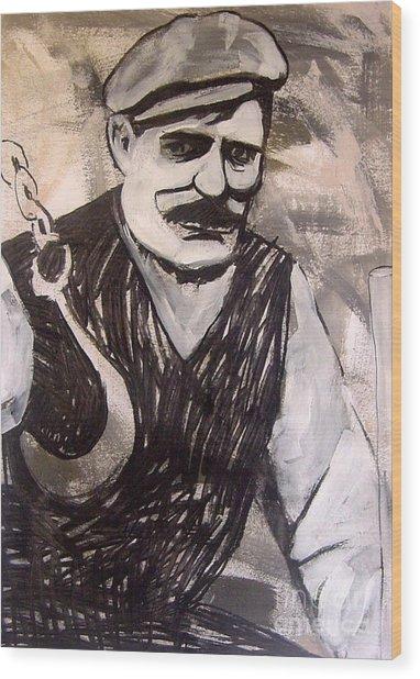 Stone Man Wood Print