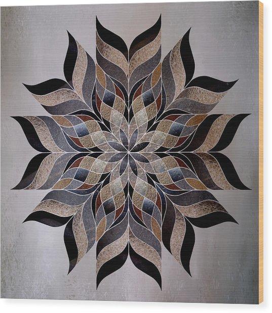Stone Mandala Wood Print