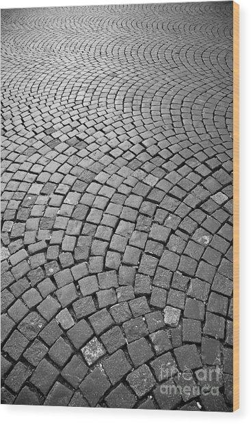 Stone Pavement Wood Print by Hideaki Sakurai