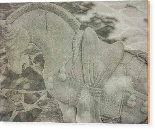 Stone Power Wood Print by Dressage Design