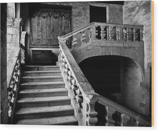 Wood Print featuring the photograph Stone Stairs by Adrian Pym