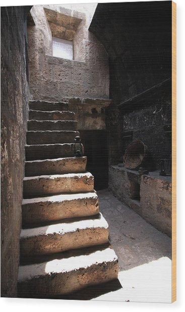 Stone Stairs At Santa Catalina Monastery Wood Print