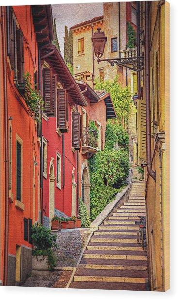 Stone Steps In Verona Italy  Wood Print