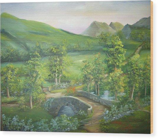 Stonebridge River Crossing Wood Print