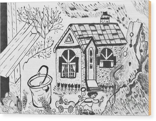 Stonegate Cottage Wood Print
