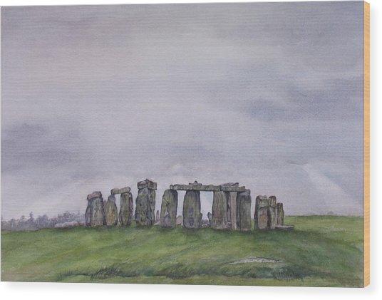 Stonehenge  Wood Print by Debbie Homewood