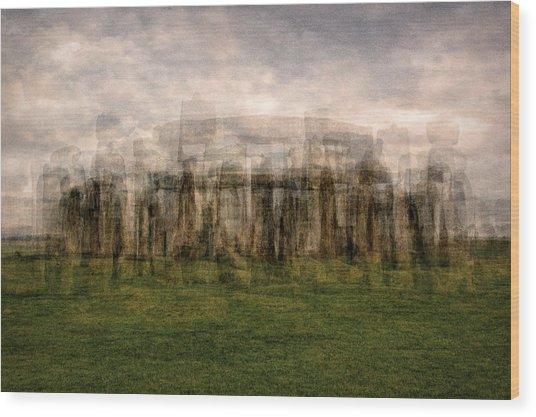 Stonehenge Wood Print by Denis Bouchard