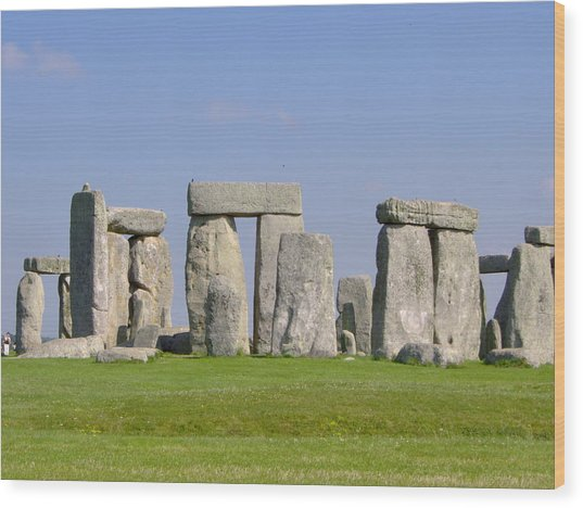 Stonehenge Morning Wood Print