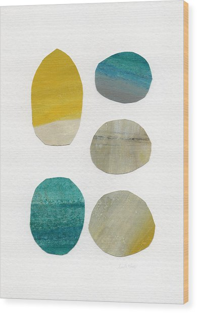 Stones- Abstract Art Wood Print