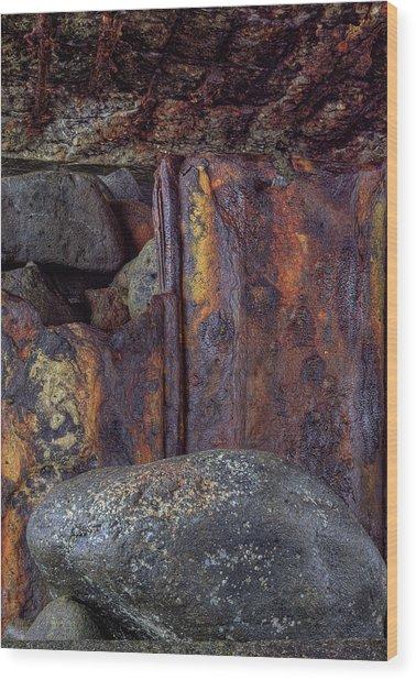 Rusted Stones 2 Wood Print