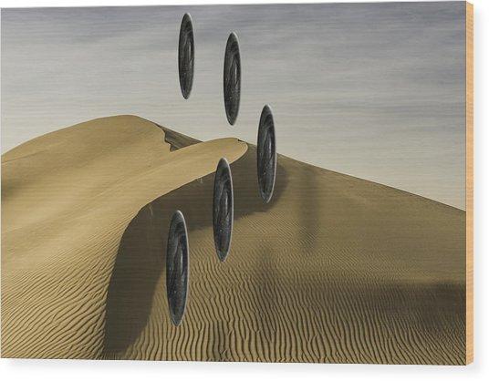 Stones Over Dunes One Wood Print