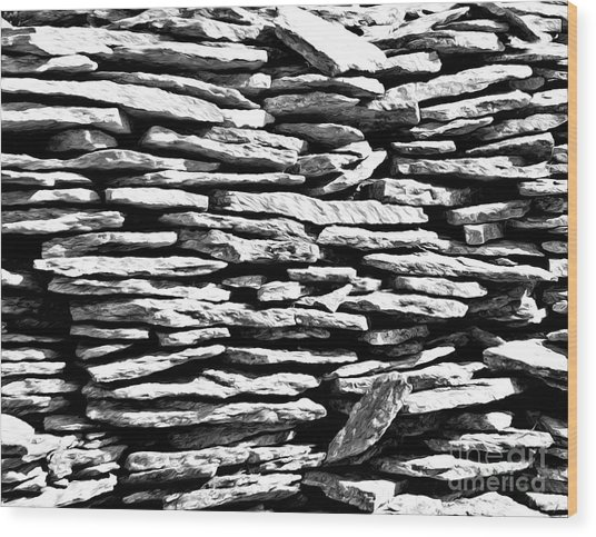 Stonework Wood Print