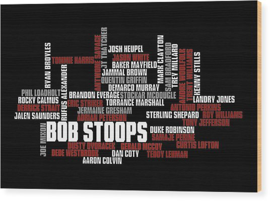 Stoops Greatest Sooners Wood Print