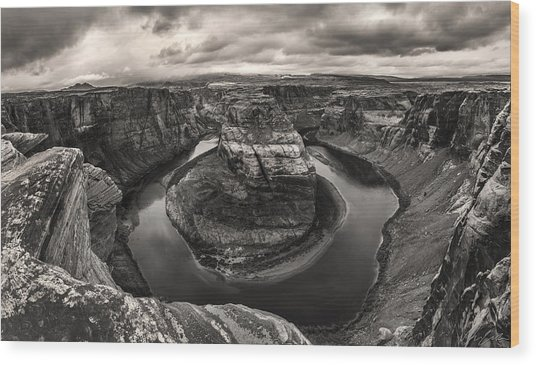 Storm At Horseshoe Bend Wood Print