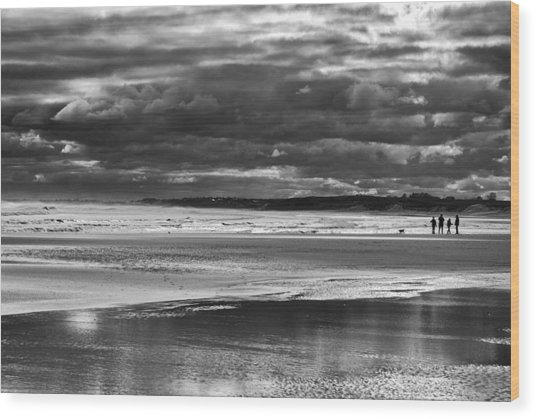 Wood Print featuring the photograph Storm Beach by Adrian Pym