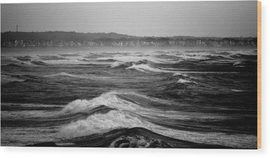 Storm Brewing Wood Print by Sarah Jean Sylvester