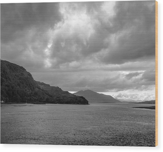 Storm On The Isle Of Skye, Scotland Wood Print