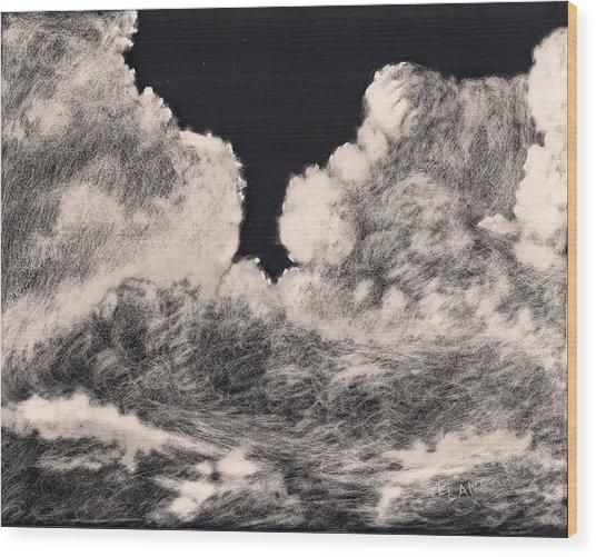 Storm Clouds 1 Wood Print by Elizabeth Lane