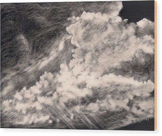 Storm Clouds 2 Wood Print by Elizabeth Lane
