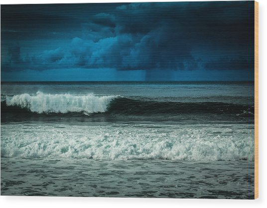 Storm Clouds On The Horizon Wood Print