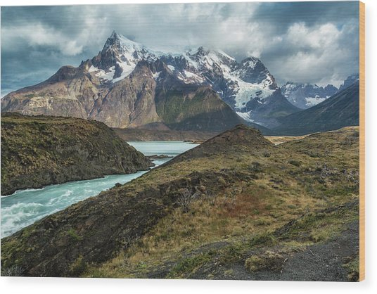 Wood Print featuring the photograph Storm Clouds Over The Cuernos by Stuart Gordon