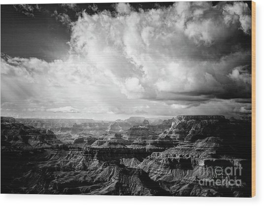 Wood Print featuring the photograph Storm Clouds by Scott Kemper
