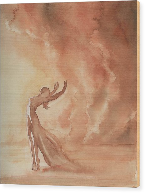 Storm Dancer Wood Print