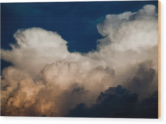 Storm Front Wood Print by Patrick  Flynn