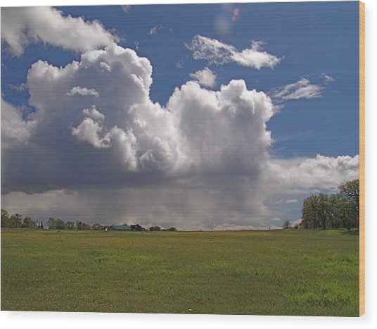 Storm Happening Wood Print by John Norman Stewart