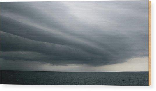 Storm Near Liberia Wood Print
