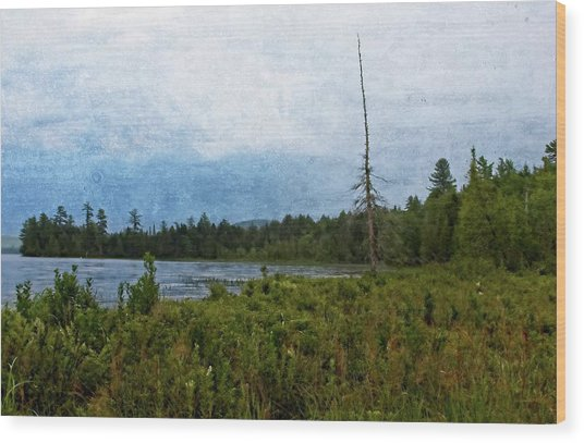 Storm On Raquette Lake Wood Print
