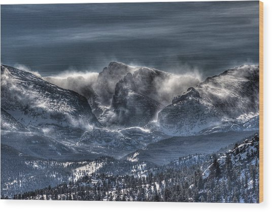 Storm On The Divide Wood Print by G Wigler
