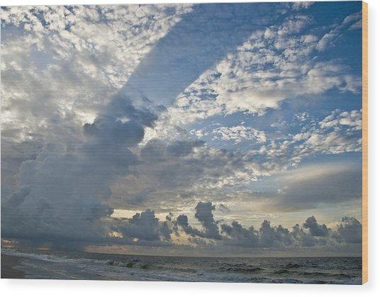 Storm On The Gulf Wood Print by Jennifer Kelly
