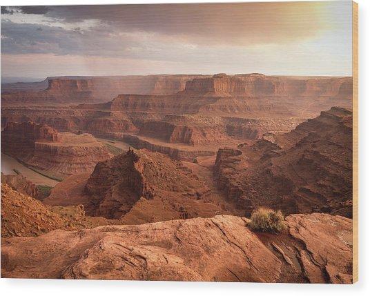 Storm Over Canyonlands Wood Print