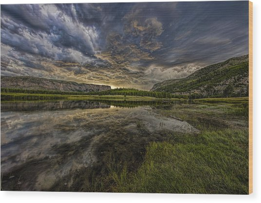 Storm Over Madison River Valley Wood Print