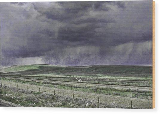 Storm Over Monida Pass  Wood Print