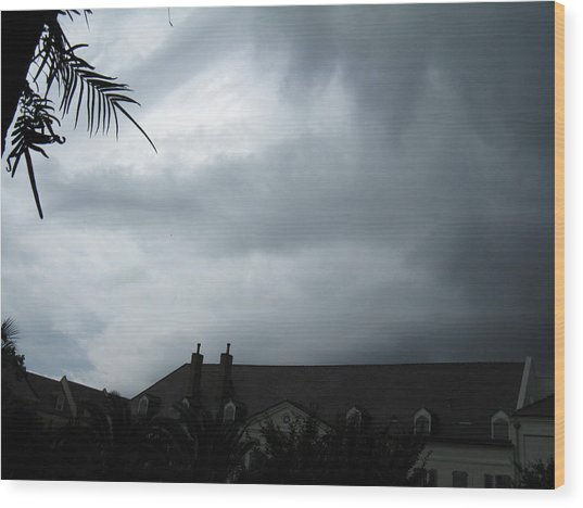 Storm Over The Convent Wood Print by Tom Hefko