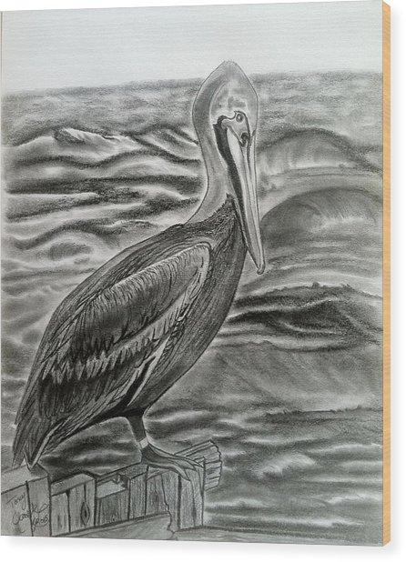 Storm Watcher Wood Print