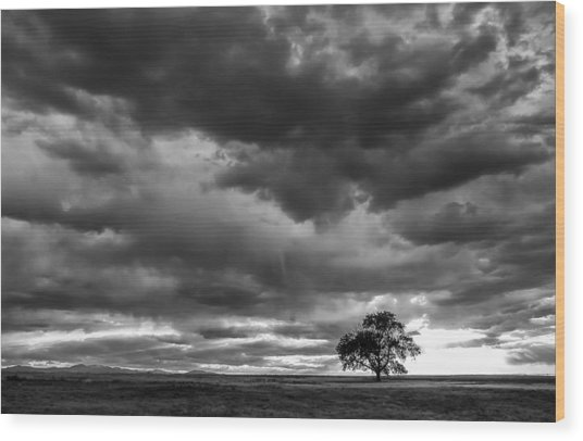 Storms Clouds Passing Wood Print