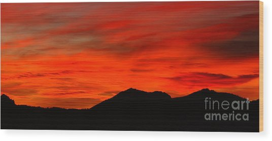 Stormy Colorado Sunrise Wood Print by Max Allen