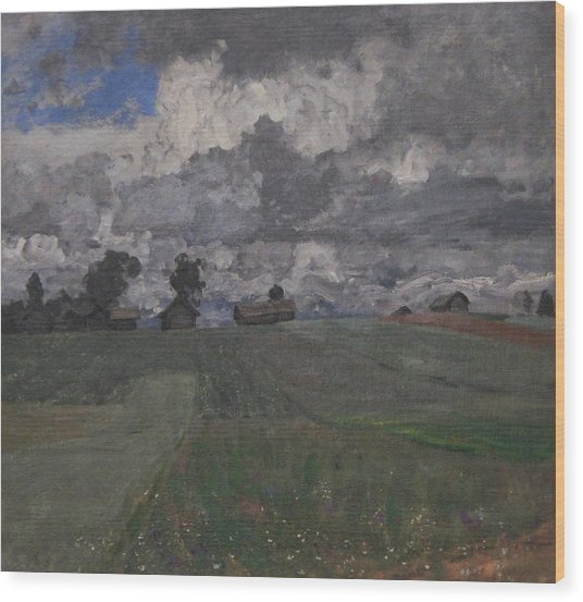 Stormy Day Wood Print by Isaac Levitan