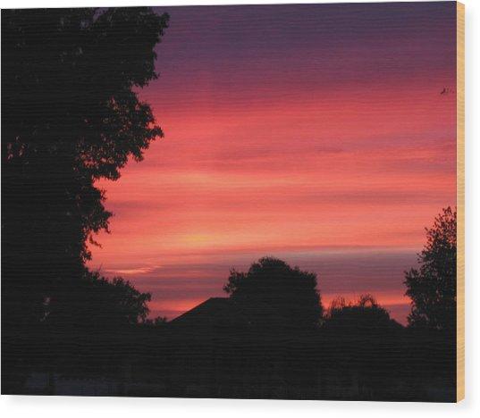 Stormy Evening Sky Wood Print by Frederic Kohli
