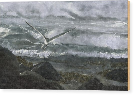 Stormy Flight 2  Wood Print by Charles Parks
