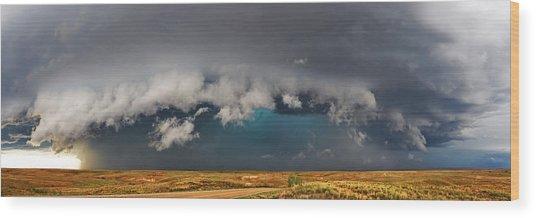 Stormy Horizon Wood Print